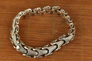 【送料無料】ブレスレット アクセサリ― ファッションスターリングシルバーブレスレットchinese fashion sterling silver 925 carved snake bracelet collectable