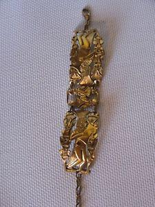 【送料無料】ブレスレット アクセサリ― ビンテージブレスレットビュッフェエジプトテーマvintage bracelet in ormolu signed m buffet egyptian theme sethi