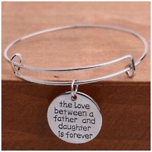 【送料無料】ブレスレット アクセサリ― ブレスレットthe love between father amp; daughter is forever bracelet