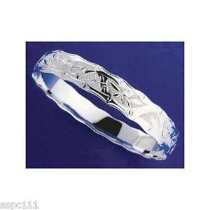 【送料無料】ブレスレット アクセサリ― ハワイ925スターリングホタテガイ18mmカットhawaiian 925 sterling silver bamboo bracelet cut scallop edge 18mm