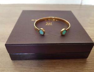 【送料無料】ブレスレット アクセサリ― モニカアトランティスカフ¥monica vinader atlantis cuff braceletgold vermeilamazonite stone rrp 255