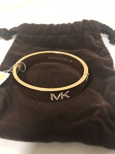 【送料無料】ブレスレット アクセサリ― ミハエルロゴヒンジゴールドブレスレットアウトボックスnwt michael kors fulton logo hinge gold bracelet 'sold out' mkj4653 mk gift box