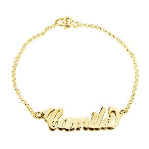 【送料無料】ブレスレット アクセサリ― ソリッドイエローゴールドブレスレット10k solid yellow gold beautiful personalized name bracelet special gift