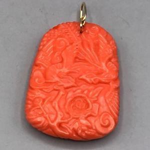 【送料無料】ブレスレット アクセサリ― ビンテージドラゴンvintage mid century sculpt corail dragon pendentif