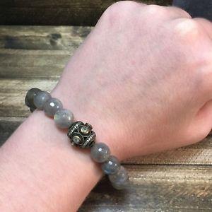 【送料無料】ブレスレット アクセサリ― ゴールドベラストレッチブレスレットnwt tat2 gold labradorite bela oval stretch bracelet w orig pkging b292