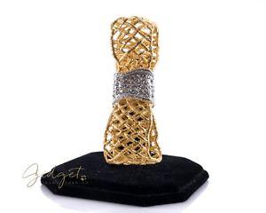 【送料無料】ブレスレット アクセサリ― ゴールドボウカフブレスレットクリスタルラインストーンalexis bittar pave gold bow cuff bracelet crystal rhinestone