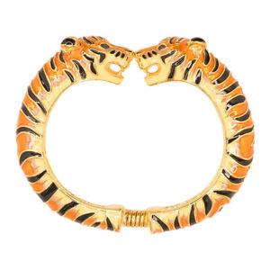 【送料無料】ブレスレット アクセサリ― ケネスジェイレーンブラウンエナメルタイガーブレスレットkenneth jay lane kjl 22kt gold plated brown enamel tiger bracelet