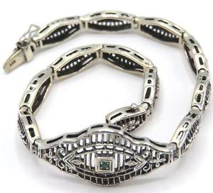【送料無料】ブレスレット アクセサリ― ブレスレットエメラルドスターリングシルバーbracelet emerald 925 sterling silver 20,0 cm