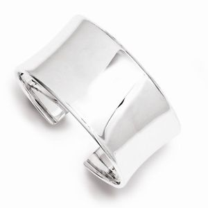 【送料無料】ブレスレット アクセサリ― カフブレスレットスターリングシルバーワイドカフワイドcuff bracelet 30mm 925 sterling silver wide concave cuff 125 wide 25g