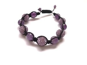 【送料無料】ブレスレット アクセサリ― クリスタルアメジストブレスレット crystal amp; genuine amethyst bracelet