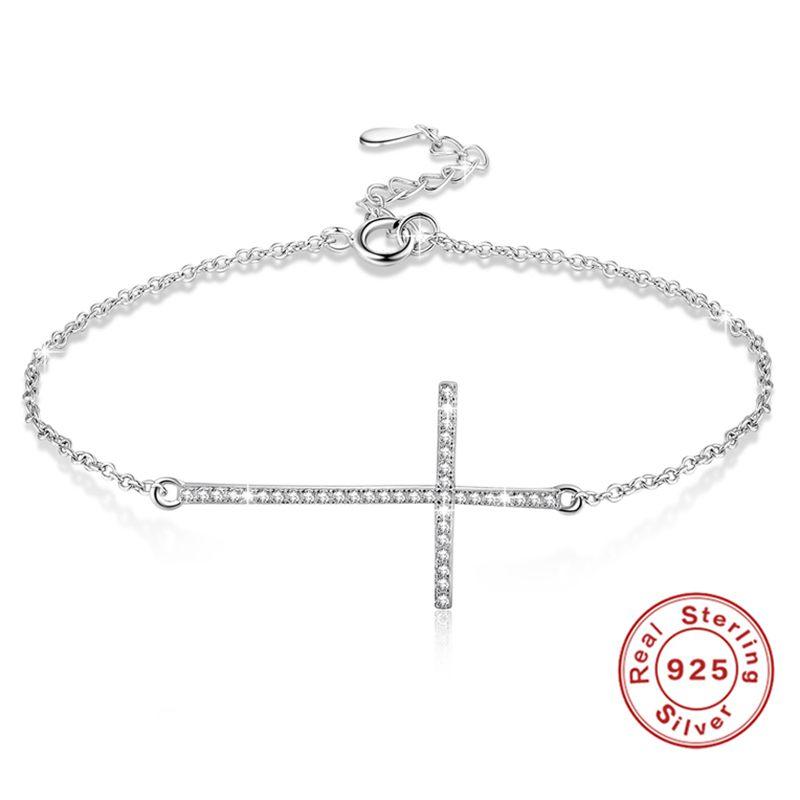 ブレスレット アクセサリ— ×クロスブレスレットポンドシルバーブレスレット20xcross bracelets 925 sterling silver bracelet for women f3r8