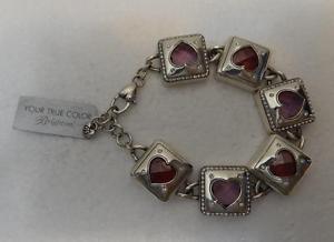 【送料無料】ブレスレット アクセサリ― ブライトンピンクスワロフスキーブレスレットオープンgenuine brighton pink amp; red swarovski open hearted sp bracelet jb6870 nwt