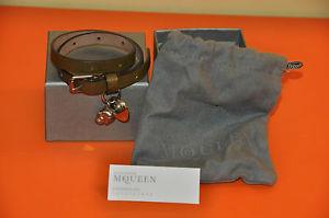 【送料無料】ブレスレット アクセサリ― アレキサンダーマックイーングリーンラップブレスレットauthentic womens alexander mcqueen green leather wrap bracelet