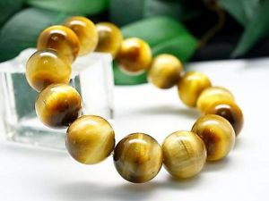 【送料無料】ブレスレット アクセサリ― ゴールデンタイガーアイストライプラウンドビーズブレスレット16mm rare 3a natural golden tiger eye stripe round beads bracelet gift bl9327