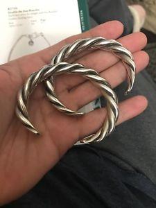 【送料無料】ブレスレット アクセサリ― スターリングシルバーカフsilpada sterling silver braided cuff