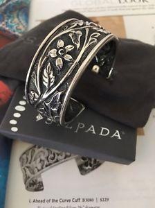 【送料無料】ブレスレット アクセサリ― スターリングカフブレスレットsilpada b1475 sterling floral cuff bracelet rare