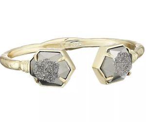 【送料無料】ブレスレット アクセサリ― スコットメタリックメノウブレスレットkendra scott metallic jan drusy agate bracelet nwot rare