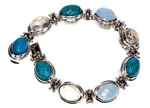 【送料無料】ブレスレット アクセサリ― マイケルスターリングシルバーブレスレットmichael dawkins multigemstone sterling silver bracelet 712 long