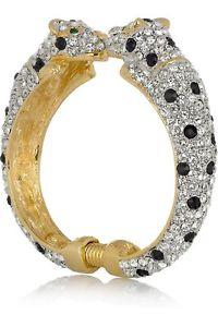 【送料無料】ブレスレット アクセサリ― ケネスジェイレーンジャガーブレスレットアメリカsigned kenneth jay lane jaguar bracelet cuff with crystals, free usa shipping