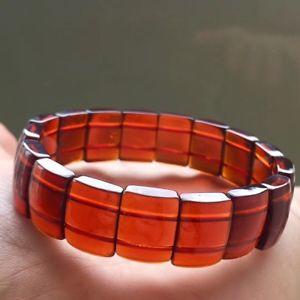 【送料無料】ブレスレット アクセサリ― オレンジガーネットクリスタルビーズブレスレットtop quality natural orange garnet crystal rectangle beads bracelet aaaa