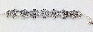【送料無料】ブレスレット アクセサリ― ブレスレット925スターリングジュエリーfiligree bracelet 925 sterling silver floral design women jewelry