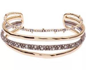 【送料無料】ブレスレット アクセサリ― クリスタルカフブレスレットalexis bittar goldplated orbit crystal cuff bracelet