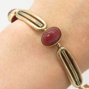 【送料無料】ブレスレット アクセサリ― ファッションゴールドリアルカネリンクブレスレットantq germanykj fashion rolled gold real carnelian link bracelet 7 34
