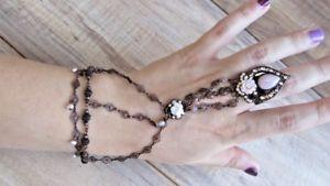 【送料無料】ブレスレット アクセサリ― シンパリチェーンリングブレスレットjacqueline singh paris women chain ring bracelet unique worn once