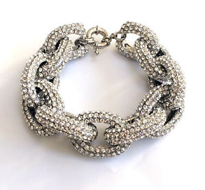 【送料無料】ブレスレット アクセサリ― バトラーウィルソンスワロフスキーリンクブレスレットbutler and wilson clear swarovski crystal chunky link pave bracelet