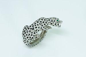 【送料無料】ブレスレット アクセサリ― listingvintageヒョウエナメルブレスレット listingvintage panther enamel crystal bracelet