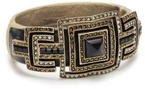 【送料無料】ブレスレット アクセサリ― ジュディスリーバーオニキスクリスタルエナメルカフブレスレットjudith lieber genuine semi precious onyx amp; pave crystal enamel cuff bracelet