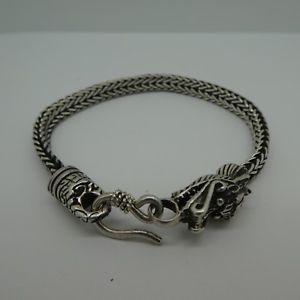 【送料無料】ブレスレット アクセサリ― トーンスターリングシルバードラゴンタスコメキシコデザインチェーンロープブレスレット2 tone sterling silver 925 dragon design chain rope bracelet from taxco mexico