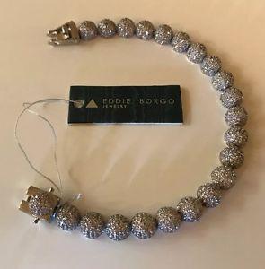 【送料無料】ブレスレット アクセサリ― エディボルゴメディアドームブレスレットシルバーeddie borgo pave medium dome luxury bracelet silver