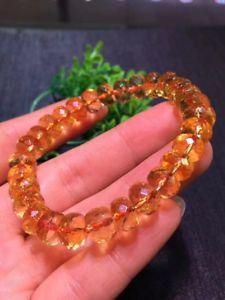 【送料無料】ブレスレット アクセサリ― シトリンビーズブレスレットnatural citrine quartz crystal marquise beads wealthy bracelet 9mm aaaa