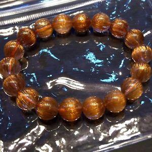 【送料無料】ブレスレット アクセサリ― ルチルラウンドビーズブレスレットnatural copper rutilated quartz cat eye crystal round beads bracelet 108mm aaaa