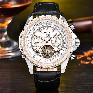 【送料無料】ブレスレット アクセサリ― クロノドイツウォッチforini chrono 44mm german design auto watch genuine leather jf170011804