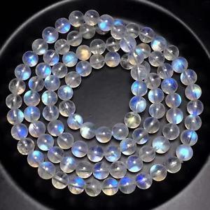 【送料無料】ブレスレット アクセサリ― ムーンストーンラウンドビーズブレスレットnatural strong blue light moonstone crystal round beads bracelet 6mm aaaaa
