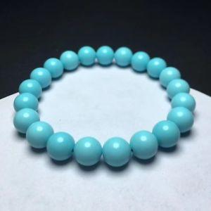 【送料無料】ブレスレット アクセサリ― ターコイズストレッチラウンドビーズブレスレットnatural turquoise stretch round beads bracelet aaaaa 10mm