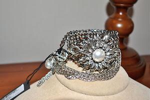 【送料無料】ブレスレット アクセサリ― ドルヘマタイトシルバーグレーメッシュブレスレットグラム listingnib 455 rodrigo otazu pearl hematite crystal silver grey mesh bracelet glam