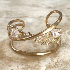 【送料無料】ブレスレット アクセサリ― クリスタルカフブレスレットalexis bittar asymmetrical crystal cuff bracelet