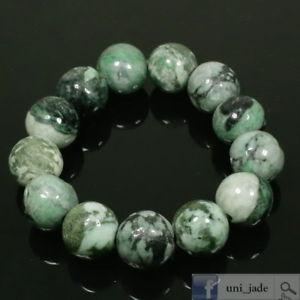【送料無料】ブレスレット アクセサリ― グリーンブレスレットlarge 16mm round beads raw finishing green bracelet natural type a jadeite jade