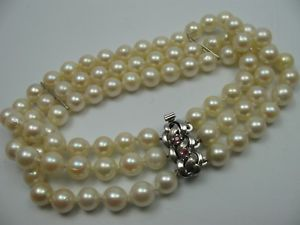 【送料無料】ブレスレット アクセサリ― ボーオーブレスレットドアルジェントtrs beau 3reihiges eau bracelet de perles avec argent 925 fermoir
