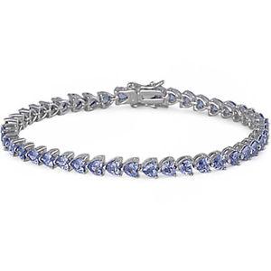【送料無料】ブレスレット アクセサリ― タンザナイトハートスターリングシルバーブレスレットbeautiful tanzanite heart 925 sterling silver bracelet 8