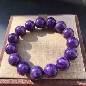 【送料無料】ブレスレット アクセサリ― ラウンドビーズブレスレットnatural purple charoite gemstone round beads bracelet 14mmaaaa