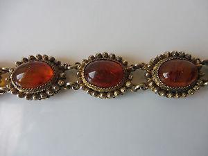 【送料無料】ブレスレット アクセサリ― ブレスレットグラムnoble, old bracelet __ 800 silver __ golden __ amber __ 46, amerikaner 2 gram