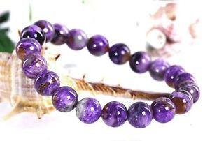 【送料無料】ブレスレット アクセサリ― ロシアラウンドビーズブレスレット10mm rare 4a natural russian charoite round beads bracelet gift bl2142