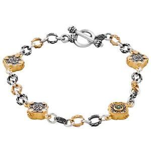 【送料無料】ブレスレット アクセサリ― スターリングシルバースワロフスキーチェーンブレスレットb342 ~ sterling silver amp; swarovski medieval chain bracelet