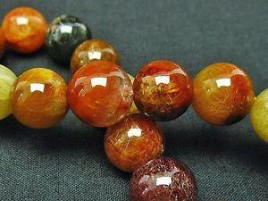 【送料無料】ブレスレット アクセサリ― ゴールデンルチルラウンドビーズブレスレット125mm rare 5a natural golden rutilated quartz round beads bracelet gift bl5350a