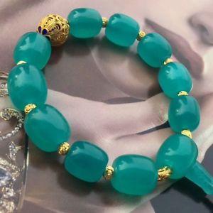 【送料無料】ブレスレット アクセサリ― ブレスレットアイスグリーン×natural crystal bracelet amazonite ice green gemstone 126*136mm aaaacx