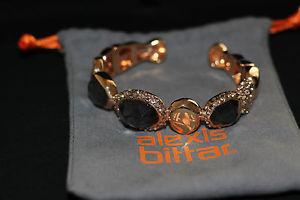 【送料無料】ブレスレット アクセサリ― クリスタルローズゴールドクオーツカフヒンジブレスレットalexis bittar crystal rose gold quartz cuff hinged bracelet